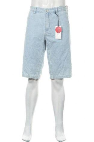 Ανδρικό κοντό παντελόνι S.Oliver, Μέγεθος XL, Χρώμα Μπλέ, 71% βαμβάκι, 29% λινό, Τιμή 26,68€