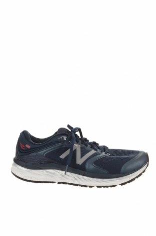 Мъжки обувки New Balance, Размер 44, Цвят Син, Текстил, еко кожа, Цена 47,88лв.