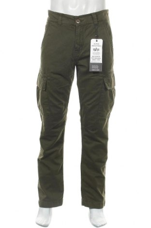 Мъжки панталон Alpha Industries, Размер L, Цвят Зелен, 100% памук, Цена 103,82лв.