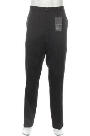 Мъжки панталон Bruno Banani, Размер XL, Цвят Черен, 84% полиестер, 14% вискоза, 2% еластан, Цена 58,58лв.