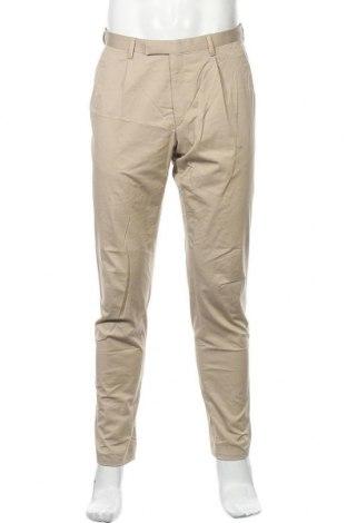 Мъжки панталон Bugatti, Размер M, Цвят Бежов, 96% памук, 4% еластан, Цена 64,22лв.