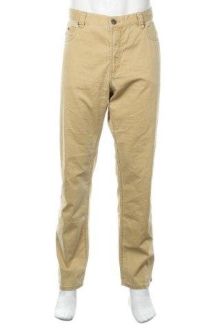 Мъжки панталон Bugatti, Размер L, Цвят Жълт, 96% памук, 4% еластан, Цена 69,02лв.