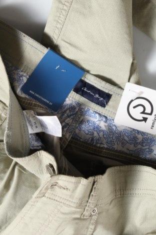 Мъжки панталон Christian Berg, Размер M, Цвят Зелен, 97% памук, 3% еластан, Цена 51,75лв.