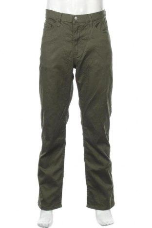 Мъжки панталон Dockers, Размер L, Цвят Зелен, 60% памук, 37% полиестер, 3% еластан, Цена 27,30лв.