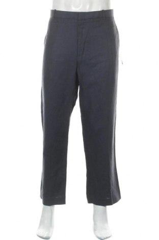 Pánské kalhoty  Perry Ellis, Velikost XL, Barva Modrá, 55% len, 45% bavlna, Cena  249,00Kč
