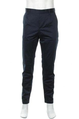 Мъжки панталон Pier One, Размер L, Цвят Син, 98% памук, 2% еластан, Цена 27,60лв.
