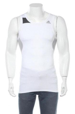 Ανδρική αμάνικη μπλούζα Adidas, Μέγεθος S, Χρώμα Λευκό, 86% πολυεστέρας, 14% ελαστάνη, Τιμή 6,99€