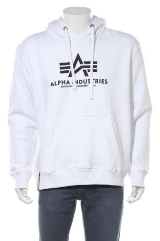 Мъжки суичър Alpha Industries, Размер XL, Цвят Бял, 80% памук, 20% полиестер, Цена 57,85лв.
