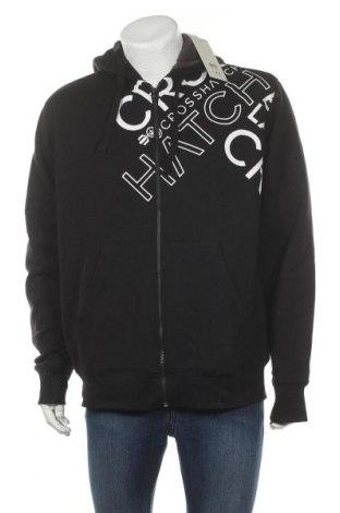 Ανδρικό φούτερ Crosshatch, Μέγεθος XL, Χρώμα Μαύρο, 80% βαμβάκι, 20% πολυεστέρας, Τιμή 26,68€
