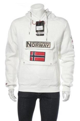 Ανδρικό φούτερ Geographical Norway, Μέγεθος L, Χρώμα Λευκό, Πολυεστέρας, Τιμή 39,00€