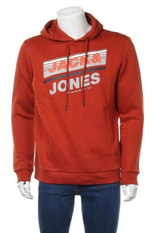 Мъжки суичър Core By Jack & Jones, Размер L, Цвят Червен, 70% памук, 30% полиестер, Цена 40,02лв.
