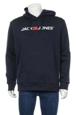 Мъжки суичър Jack & Jones, Размер XL, Цвят Син, 70% памук, 30% полиестер, Цена 34,30лв.