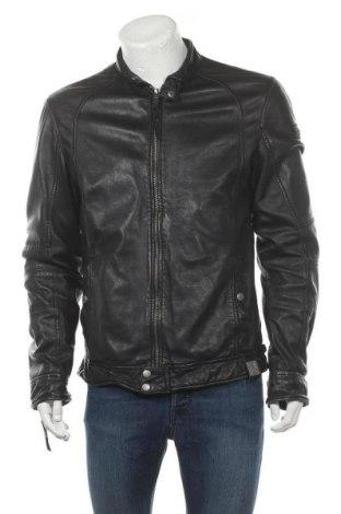 Pánská kožená bunda  Tigha, Velikost L, Barva Černá, Pravá kůže, Cena  2673,00Kč