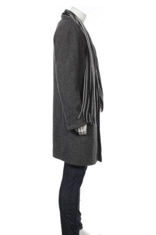 Мъжко палто Class International, Размер L, Цвят Сив, 70% полиестер, 30% вълна, Цена 69,31лв.