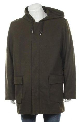 Мъжко палто Makia, Размер XL, Цвят Зелен, 70% вълна, 30% полиестер, Цена 119,25лв.