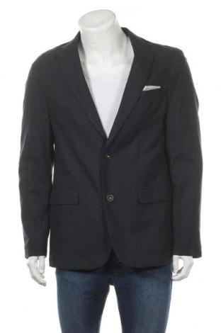 Мъжко сако Christian Berg, Размер L, Цвят Син, 72% памук, 28% лен, Цена 26,76лв.