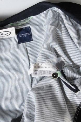 Мъжко сако Christian Berg, Размер L, Цвят Син, 72% памук, 28% лен, Цена 96,75лв.