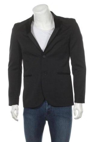 Мъжко сако H&M, Размер M, Цвят Черен, Вълна, Цена 13,50лв.