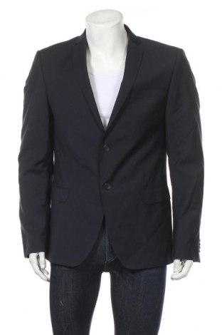 Ανδρικό σακάκι S.Oliver, Μέγεθος L, Χρώμα Μπλέ, Μαλλί, Τιμή 8,51€