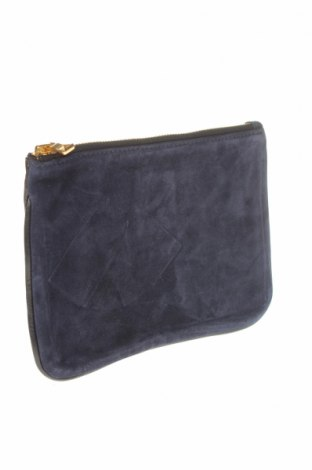 Несесер Balmain X H&M, Цвят Син, Естествена кожа, естествен велур, Цена 131,97лв.