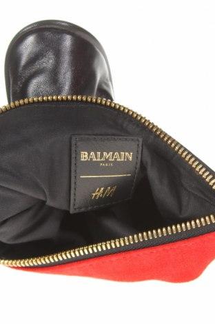 Несесер Balmain X H&M, Цвят Червен, Естествена кожа, естествен велур, Цена 131,97лв.