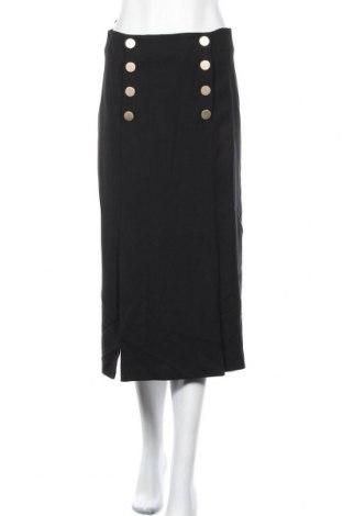 Φούστα Massimo Dutti, Μέγεθος S, Χρώμα Μαύρο, 99% βισκόζη, 1% ελαστάνη, Τιμή 19,50€