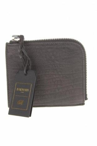 Портмоне Balmain X H&M, Цвят Черен, Естествена кожа, Цена 119,25лв.