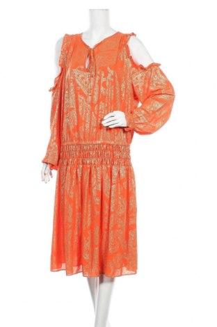 Рокля MICHAEL Michael Kors, Размер XL, Цвят Оранжев, Полиестер, Цена 117,60лв.