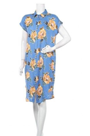 Φόρεμα Pieces, Μέγεθος L, Χρώμα Μπλέ, 100% βισκόζη, Τιμή 17,54€