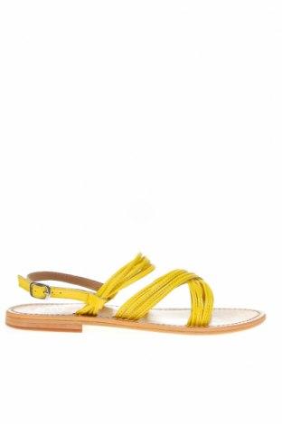 Сандали Les Bagatelles, Размер 38, Цвят Жълт, Естествена кожа, Цена 64,07лв.