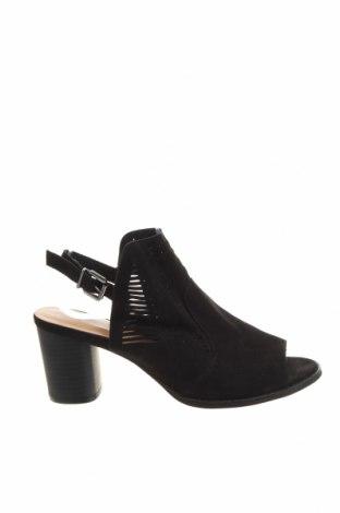Σανδάλια Lily Loves, Μέγεθος 42, Χρώμα Μαύρο, Κλωστοϋφαντουργικά προϊόντα, Τιμή 18,51€