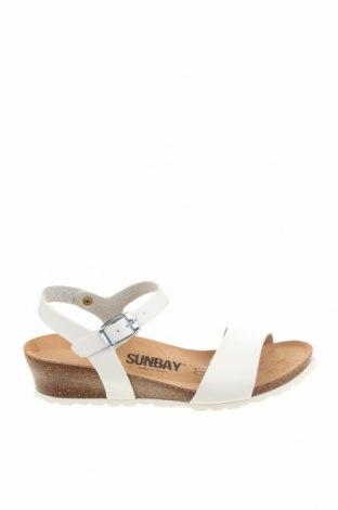 Сандали Sunbay, Размер 38, Цвят Бял, Еко кожа, Цена 76,45лв.
