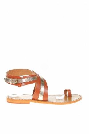 Сандали W.S Shoes, Размер 39, Цвят Кафяв, Естествена кожа, Цена 86,33лв.
