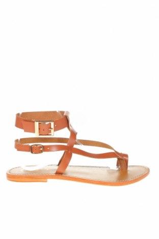 Сандали W.S Shoes, Размер 38, Цвят Кафяв, Естествена кожа, Цена 73,87лв.