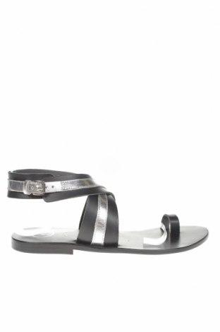 Сандали W.S Shoes, Размер 38, Цвят Черен, Естествена кожа, Цена 58,50лв.