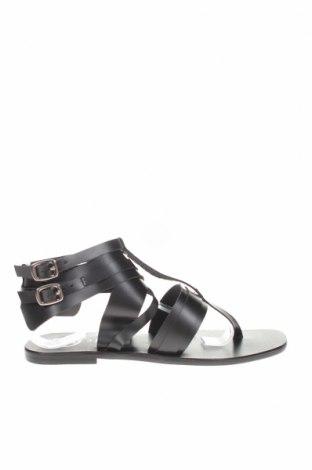 Σανδάλια W.S Shoes, Μέγεθος 38, Χρώμα Μαύρο, Γνήσιο δέρμα, Τιμή 30,16€