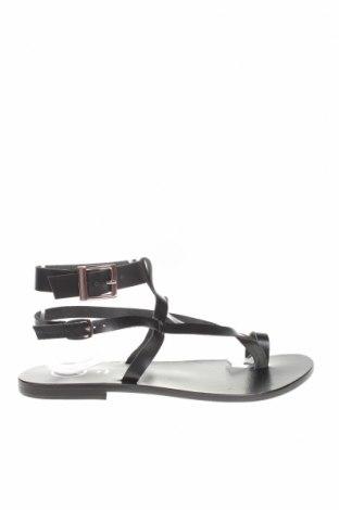 Сандали W.S Shoes, Размер 38, Цвят Черен, Естествена кожа, Цена 73,87лв.