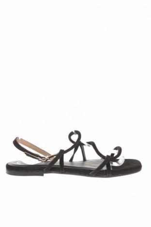 Сандали W.S Shoes, Размер 39, Цвят Черен, Естествен велур, Цена 55,08лв.