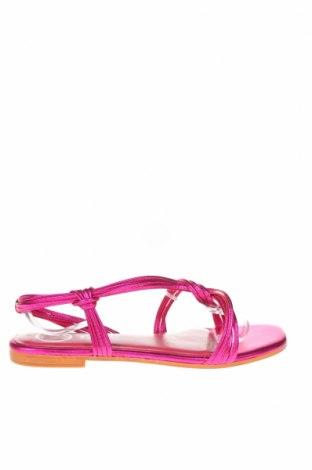 Сандали W.S Shoes, Размер 38, Цвят Розов, Естествена кожа, Цена 53,60лв.