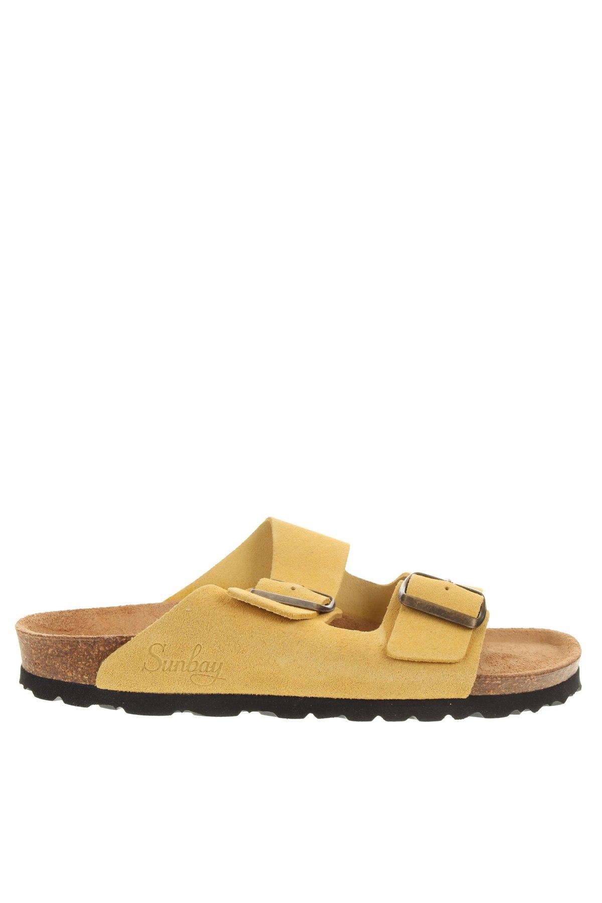 Чехли Sunbay, Размер 38, Цвят Жълт, Естествен велур, Цена 53,64лв.