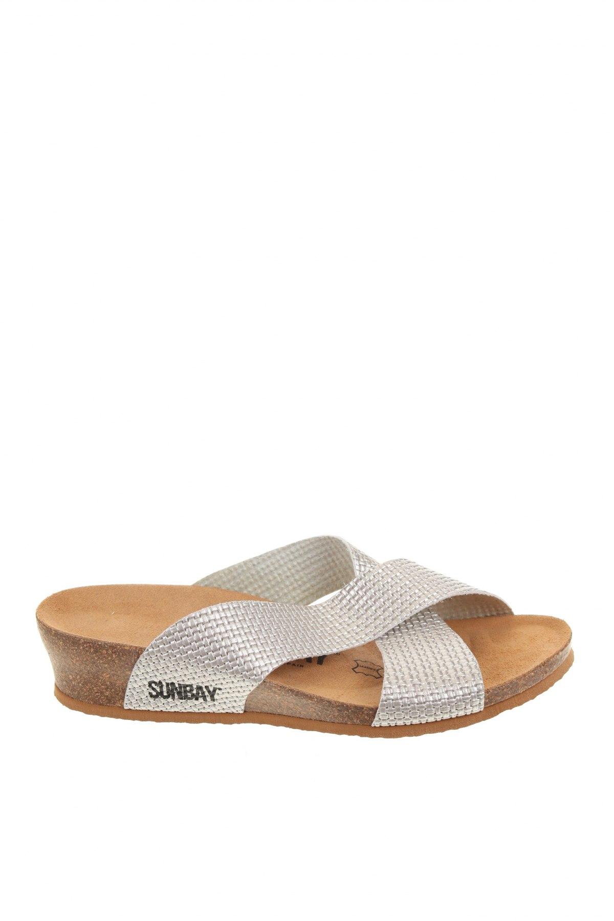 Чехли Sunbay, Размер 38, Цвят Сребрист, Еко кожа, Цена 69,66лв.