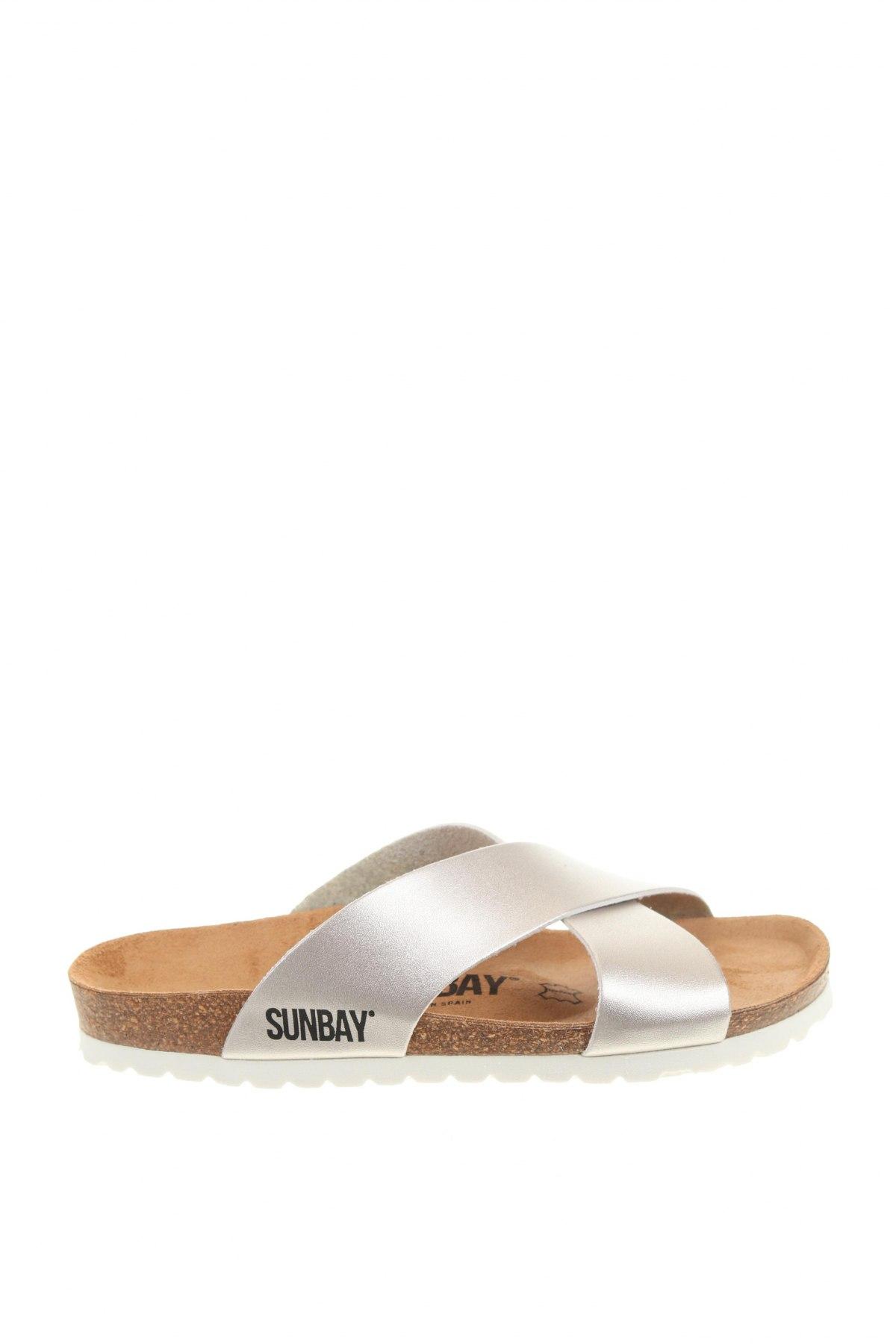 Чехли Sunbay, Размер 38, Цвят Сребрист, Еко кожа, Цена 56,76лв.