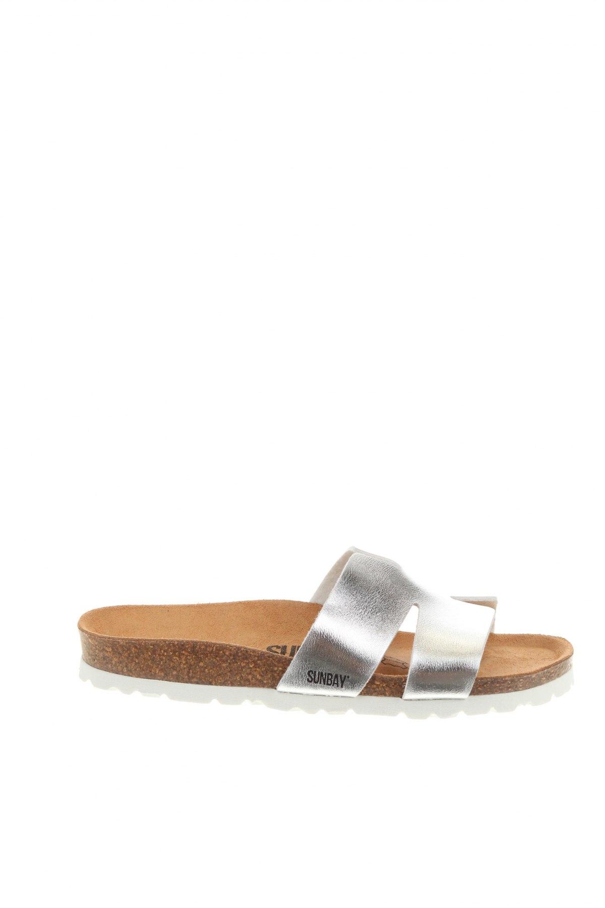 Чехли Sunbay, Размер 38, Цвят Сребрист, Еко кожа, Цена 44,90лв.