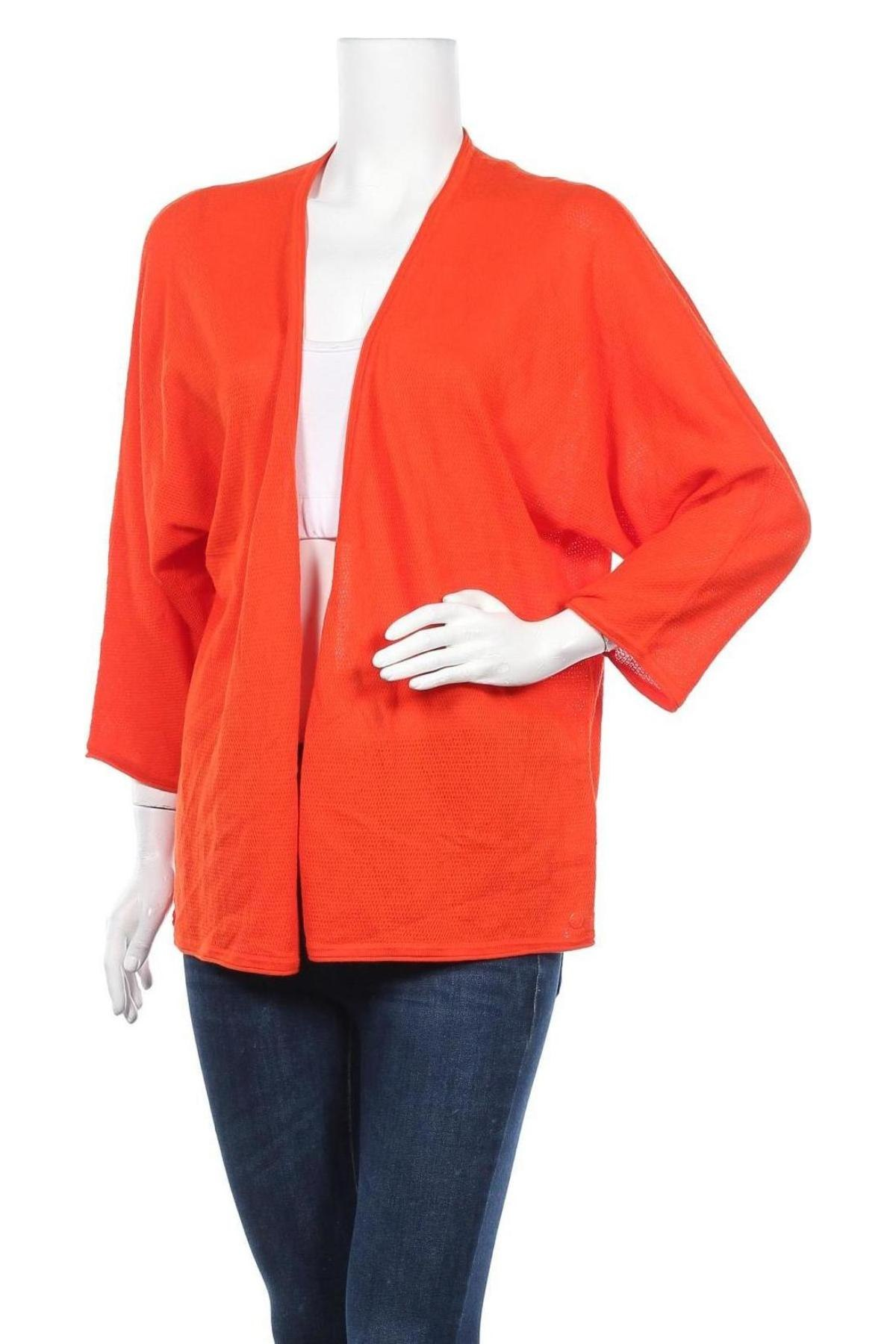 Дамска жилетка Tom Tailor, Размер 3XL, Цвят Оранжев, 100% памук, Цена 41,40лв.