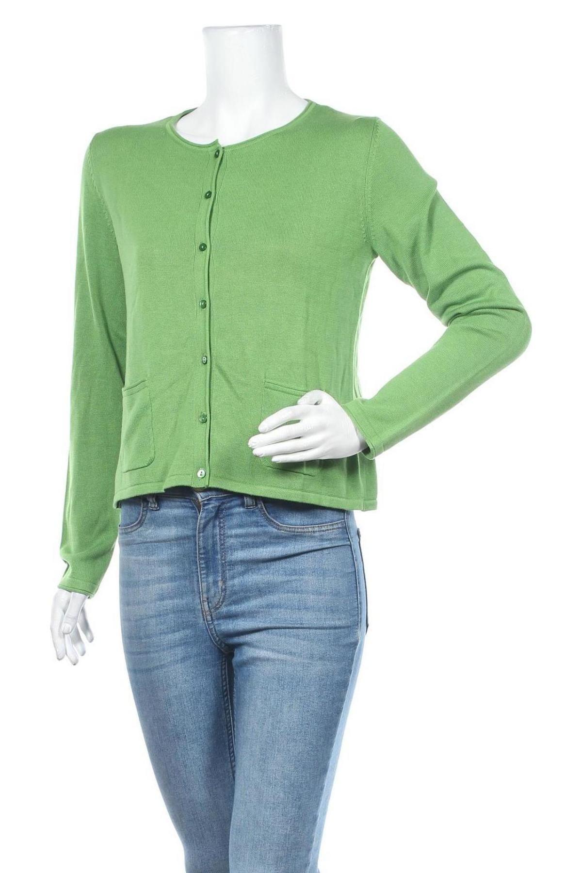 Дамска жилетка Tom Tailor, Размер M, Цвят Зелен, 60% памук, 40% вискоза, Цена 34,50лв.