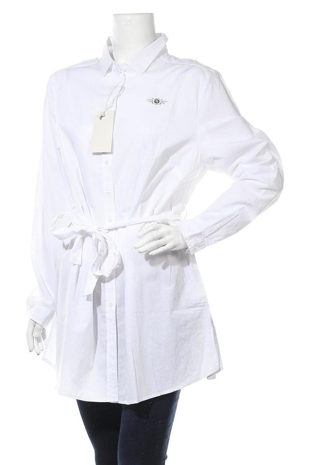 Γυναικείο πουκάμισο Tom Tailor, Μέγεθος XL, Χρώμα Λευκό, Βαμβάκι, Τιμή 53,74€