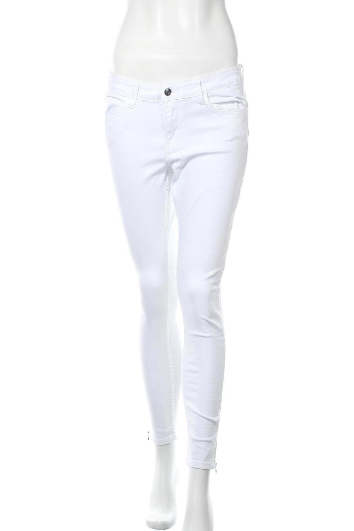 Дамски дънки Kiomi, Размер L, Цвят Бял, 98% памук, 2% еластан, Цена 46,50лв.