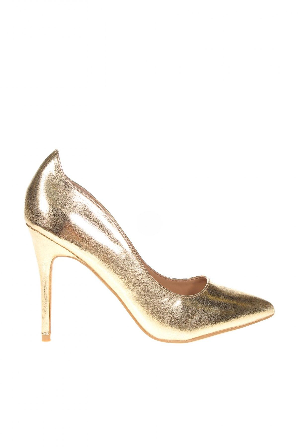 Дамски обувки Anna Field, Размер 38, Цвят Златист, Еко кожа, Цена 30,09лв.