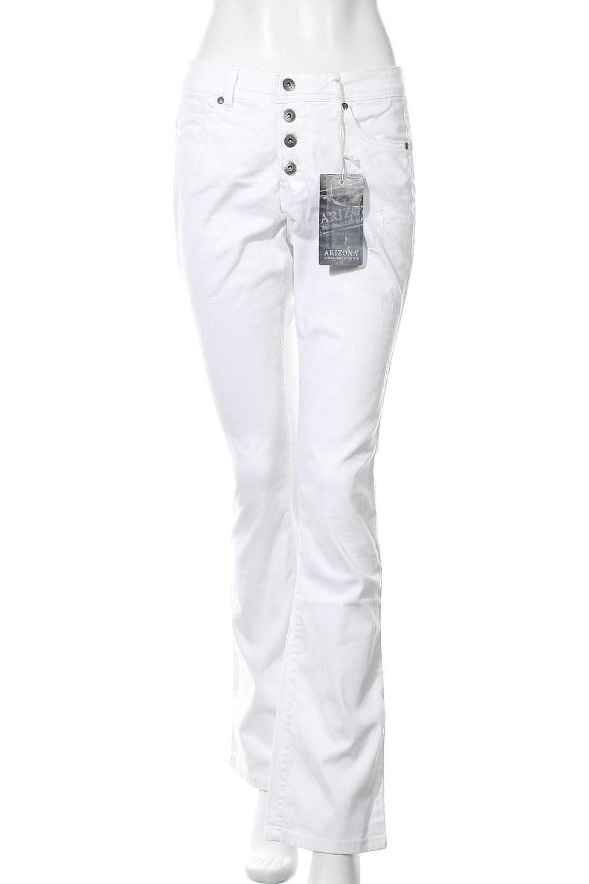 Дамски панталон Arizona, Размер M, Цвят Бял, 98% памук, 2% еластан, Цена 16,56лв.