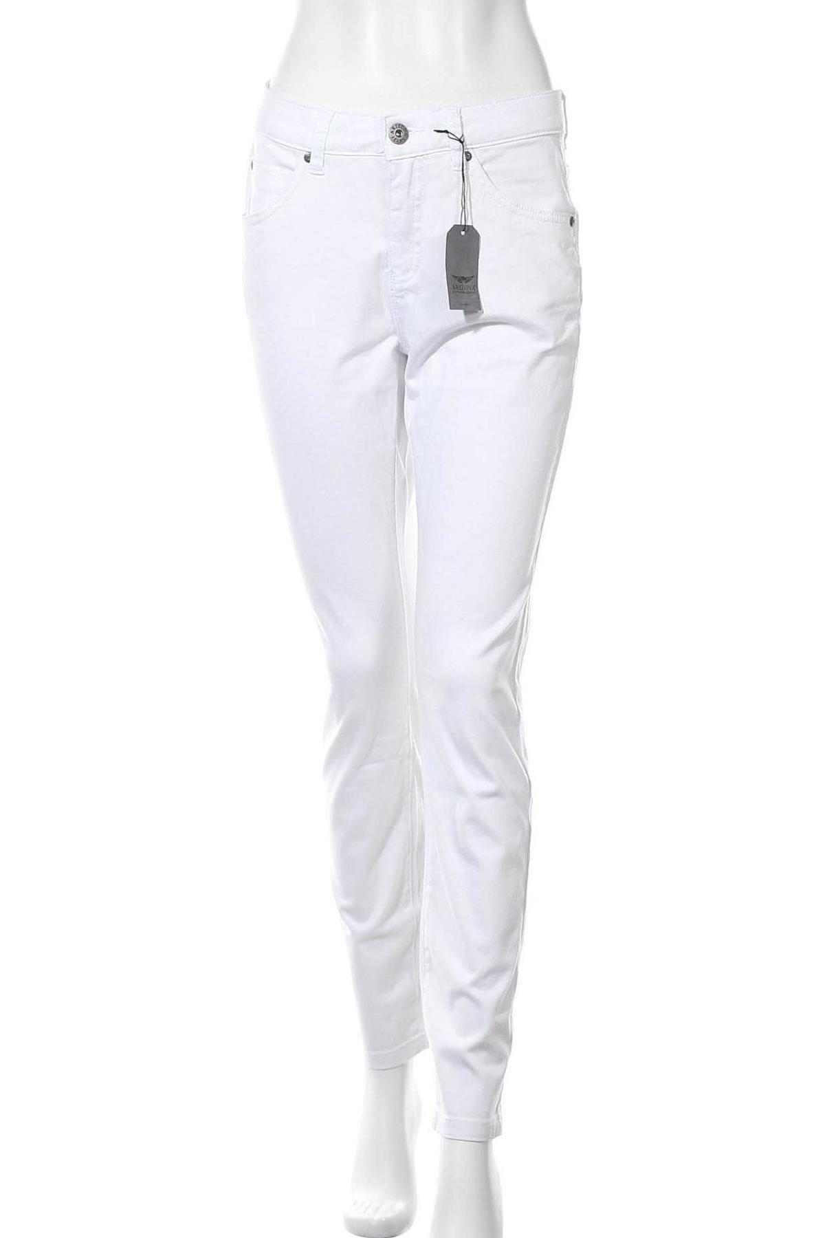 Дамски панталон Arizona, Размер M, Цвят Бял, 98% памук, 2% еластан, Цена 19,50лв.